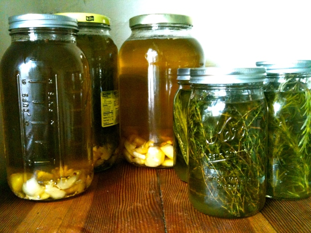 Infused oil curing.