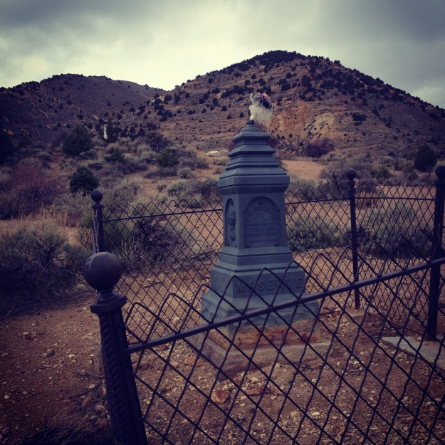 The pioneer graveyard in Virginia City, population 920.
