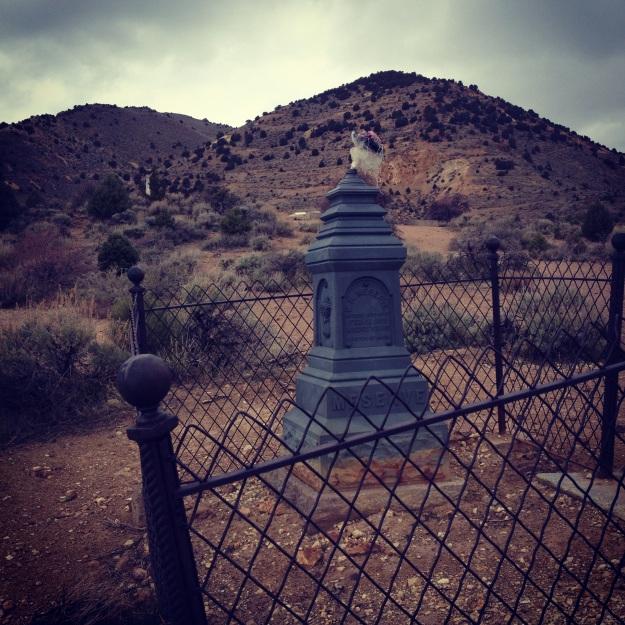 The pioneer graveyard in Virginia City, population 920.