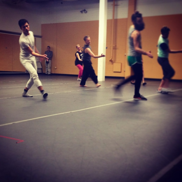 Rehearsal movement intensive with our choreographer Jessie Smith at Cornish College of the Arts