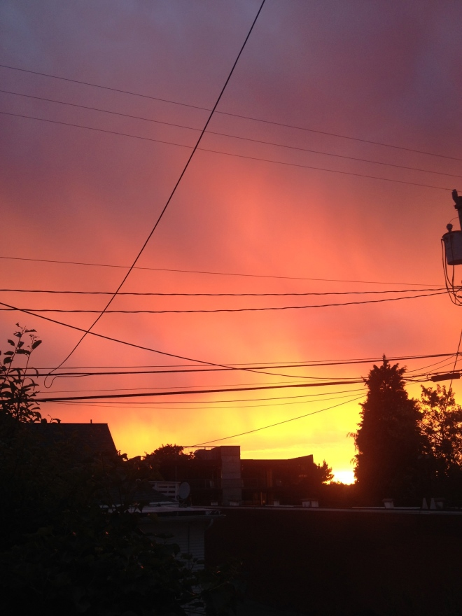 The sky was ablaze, our hearts on fire...