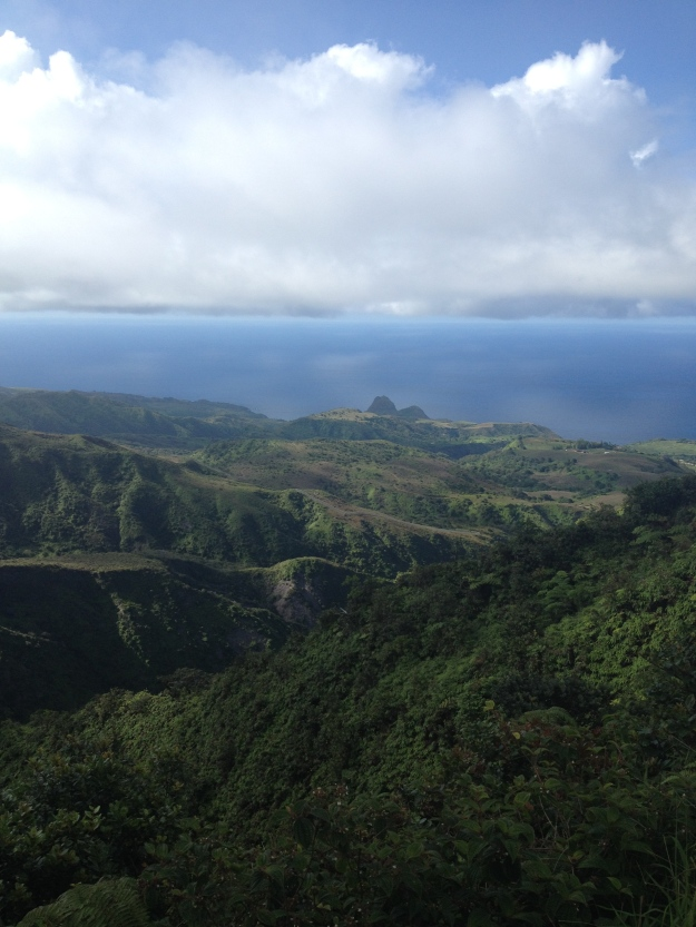 A view of the Pacific from the ridge before the summit.