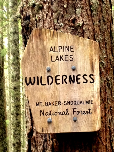 The Alpine Lakes Wilderness is a large wilderness area spanning the Cascade Range of Washington state in the United States. The wilderness is located in parts of Wenatchee National Forest and Snoqualmie National Forest, and is approximately bounded by Interstate 90 and Snoqualmie Pass to the south and U.S. Route 2 and Stevens Pass to the north. The Alpine Lakes is the largest wilderness area near the population centers of Puget Sound, at approximately 390,000 acres