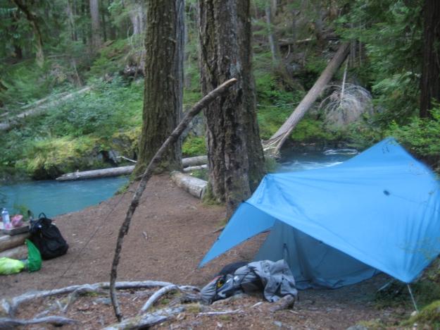 campsite at Dose Forks