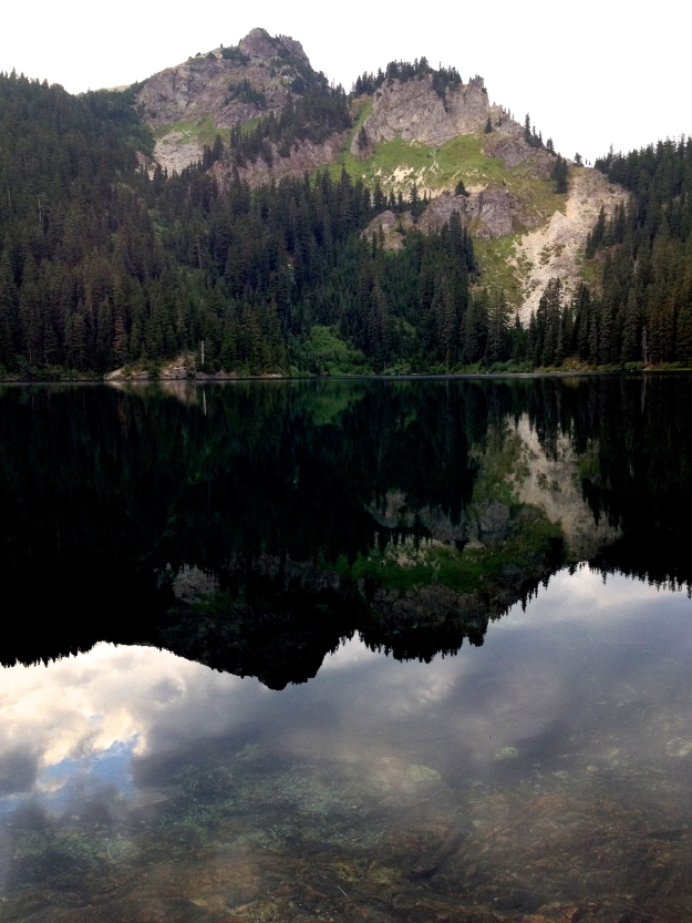 Early morning at Twilight Lake - 8 miles above Snoqualmie Pass