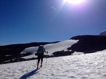 Kate on Mount Rainer's wonderland trail - September 2014