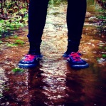 I get my chance to test the neoprene socks. Also the Lone Peak trail runners by Altra