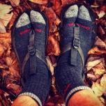DIY tabis converted from Darn Tough hiker mid socks and Bedrock sandals